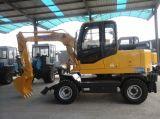 Pequeño excavador de la rueda de la tonelada Wyl70 de la marca de fábrica 7 de Yugong con el motor de Xinchai