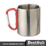 taza del acero inoxidable 300ml con la maneta de Carabiner