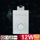 Tous dans une lumière Integrated 12W de jardin de rue avec le détecteur de PIR