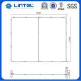 Soporte de visualización de encargo portable del contexto de la feria profesional de la tela (LT-24Q1)