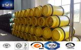 840L, 1000L, bombola per gas media riutilizzabile della saldatura di pressione per cloro liquefatto