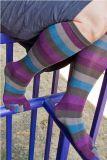 鮮やかな縞の多彩なつま先の服5のつま先のソックス