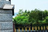 Le jardin extérieur 60LED de détecteur radar de lumière solaire en aluminium de mur allume la lumière légère faisante le coin solaire de nuit de garantie avec 4 modes fonctionnants