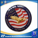 미국 Laser 조각 (Ele-C054)를 가진 군 연약한 사기질 기념품 동전