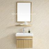 Vanidad italiana del cuarto de baño del acero inoxidable del estilo para el hogar (091)
