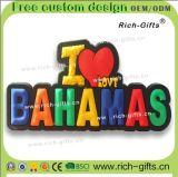 Gecko personnalisé des Bahamas de souvenir d'aimants de réfrigérateur de magnéto à cadeaux de décoration (RC- BS)