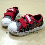 子供のスパイダーマンの漫画のズック靴の学校は蹄鉄を打つスポーツの靴(FF921-3)に