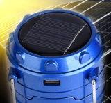 Lanterna solare piegante di carico del USB con la Banca di potere