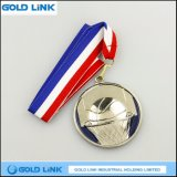 Souvenir argenté fait sur commande chaud de médaille de pièce de monnaie d'enjeu de médaillon de basket-ball de médaille d'or