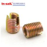 ISO-Soem-Farben-verzinkte selbstschneidende Stahlgewindeeinsätze