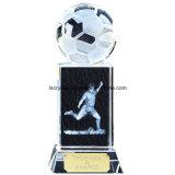 Concessão do troféu do futebol do futebol do cristal da qualidade