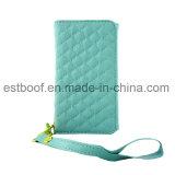 Caja de cuero del teléfono móvil de la carpeta de la PU de la buena calidad