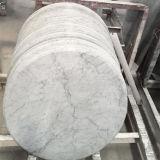 Piano d'appoggio di marmo rotondo di marmo della lastra della Tabella pranzante di disegno semplice