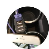 Chargeur de véhicule de téléphone de 4 plots USB