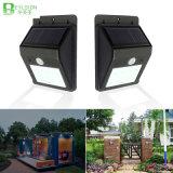 8 LED-Solarlampen-Wand-Beleuchtung-Straßenlaternemit PIR Bewegungs-Fühler