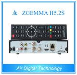2016 maúlla el receptor basado en los satélites gemelo Zgemma H5.2s de los sintonizadores con E2 OS H. 265 Hevc H. 265 utilizado
