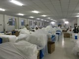 Staubfreier Cleanroom-Arbeits-Wegwerfoverall