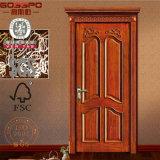 Portello di legno intagliato anteriore dell'appartamento all'ingrosso della Cina nuovo (GSP2-063)