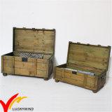 Tronco de madera hecho a mano de la reproducción de la antigüedad del almacenaje
