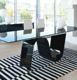 10mm Black Luxury Toughened Glass als Koffietafel Top