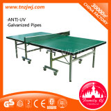 2016 popolare Fare un rumore metallico-Pong Table Outdoor Folding Tennis Table con Wheels