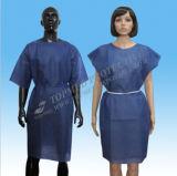 Wegwerfbares nichtgewebtes geduldiges Kleid/scheuern Klage-/Hospital-Patienten-Kleid
