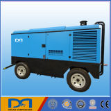 2/4 das rodas Mobile Portable Diesel Engine Portable Screw Air Compressor para Mining