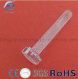 Parafuso de máquina acrílico de nylon plástico da cabeça Hex da alta qualidade