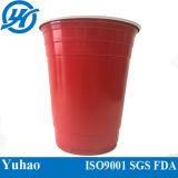 Copo plástico descartável do picosegundo da cor dobro para beber frio