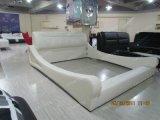 Nuova mobilia della camera da letto di disegno della base di cuoio A043