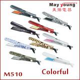 티타늄 LCD 디스플레이 머리 Styler 다채로운 머리 편평한 철