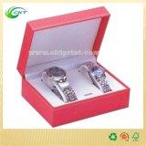 Eleganter Uhr-Paket-Kasten mit fertigen kundenspezifisch an (CKT-CB-327)