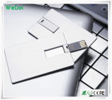 Clé de mémoire USB de carte en métal avec la capacité totale en tant que cadeau promotionnel (WY-C25)