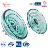 U100 50kn disco Suspensión de vidrio templado aislante IEC