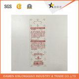 L'indumento di plastica di carta su ordinazione ha stampato la modifica di caduta dell'oscillazione di stampa del contrassegno