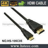 19pin conjuguent le câble mâle du micro HDMI avec le sac de fermeture éclair