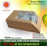 De Kartons van het Vakje van het Document van de Verpakking van het voedsel met Antifogging Venster