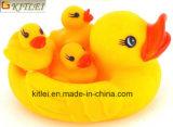 Patos de borracha plásticos amarelos feitos sob encomenda de venda quentes do banho do brinquedo