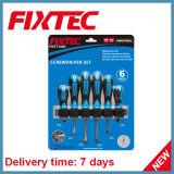 Комплекты отвертки ручных резцов 6PCS CRV Fixtec с мягкой ручкой