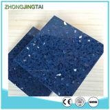 Хонингованный поверхностный искусственний гранит кроет тип черепицей материал Countertop голубого Brown сапфира