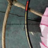 (602-10-2B) Boyau en caoutchouc hydraulique flexible de pétrole à haute pression spiralé