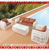 Sofá do lazer da mobília do jardim ajustado para interno e ao ar livre