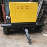 Generador diesel insonoro portable con el generador diesel silencioso de las ruedas con el acoplado