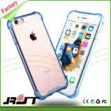 Cajas antis cristalinas transparentes a prueba de choques del teléfono celular de la gota de la PC TPU para el iPhone 6 6s (RJT-0240)