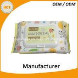 Da alta qualidade quente da venda da amostra livre fabricante feliz do competidor do Wipe do bebê de China