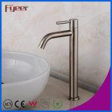Faucet elevado da embarcação do banheiro do aço inoxidável do corpo 304 de Fyeer