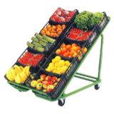 Supermarkt-frische Frucht-Bildschirmanzeige-Stahlzahnstange