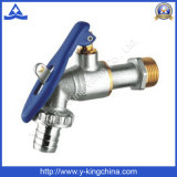 Brass Ball Bibcock Faucet with for Locked Water (YD-2014)