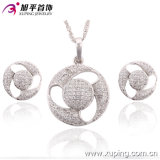 Environmental Copper 63201の最新のFashion Jewelry Rhodium Elegant Zircon Women Jewelry Set