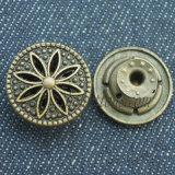 Шикарная латунь конструкции извлекает кнопки металла для одежды